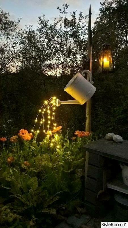 Fairy Light Watering Can