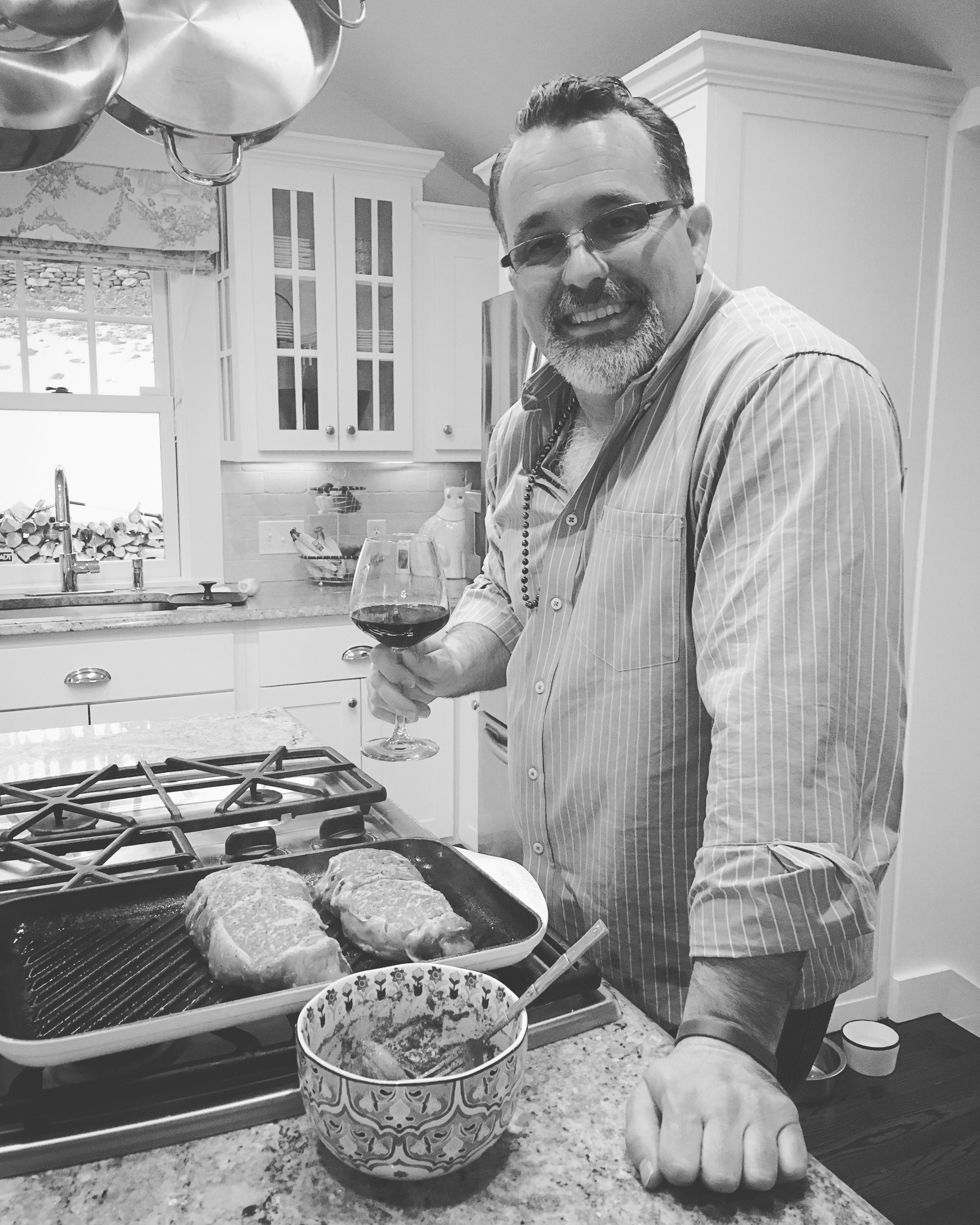 Scotty - I may not really be a chef but I play one on TV.