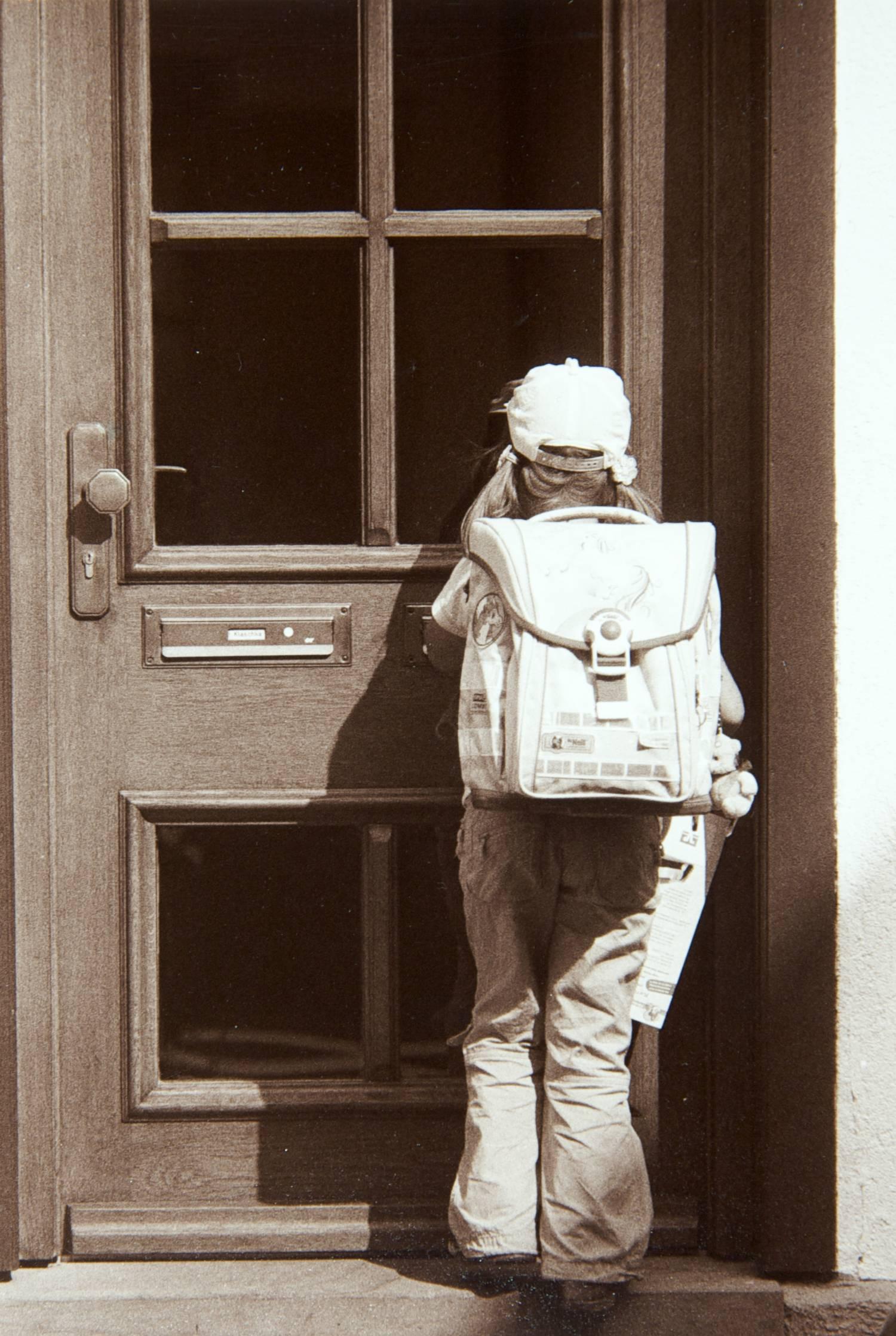Schoolgirl at Door (Schiltach, Germany)