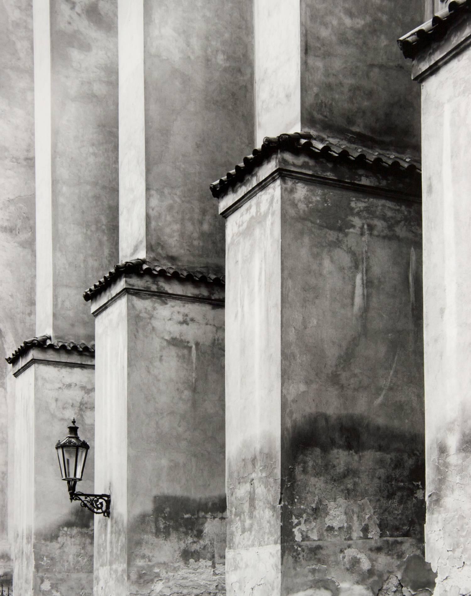 Lantern in Prague (Basilica of St. James, Czech Republic)
