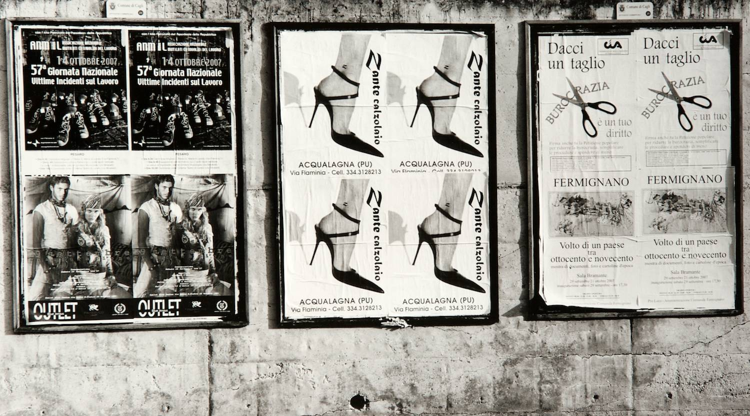 Posters (Cagli, Italy)