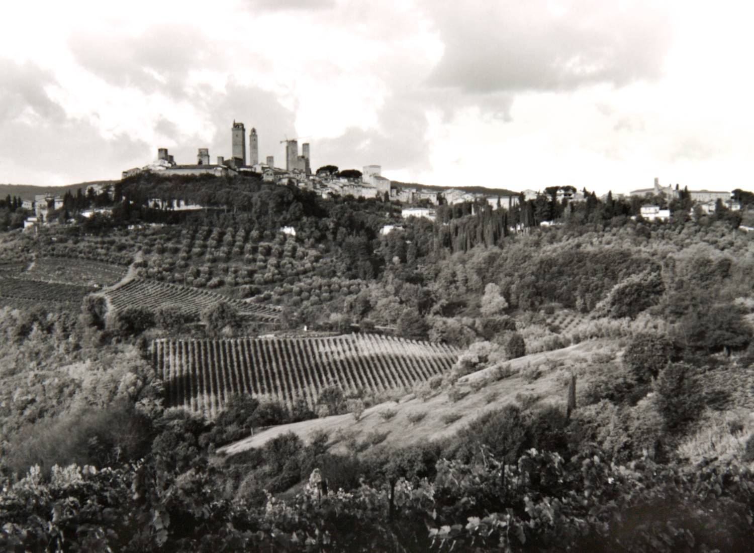 Morning Clouds above San Gimignano (Italy)