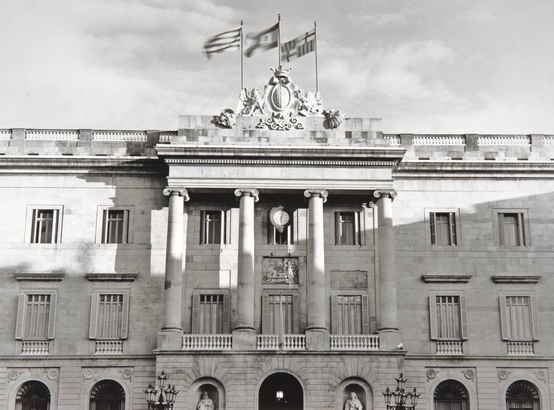 Flags over Barcelona (Spain)