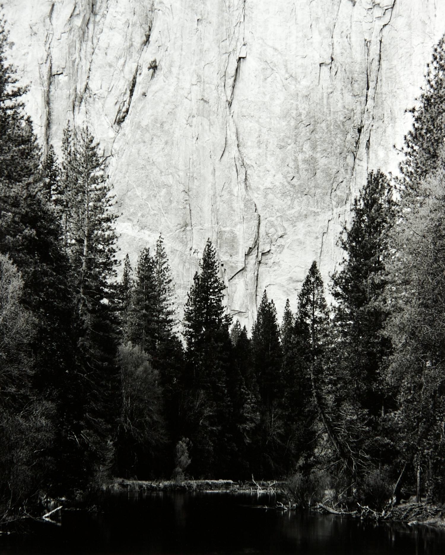 Merced River at Cathedral Spires (Yosemite National Park)