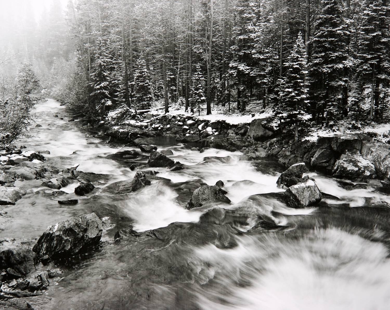 Winter Storm on Boulder Creek  (Colorado)