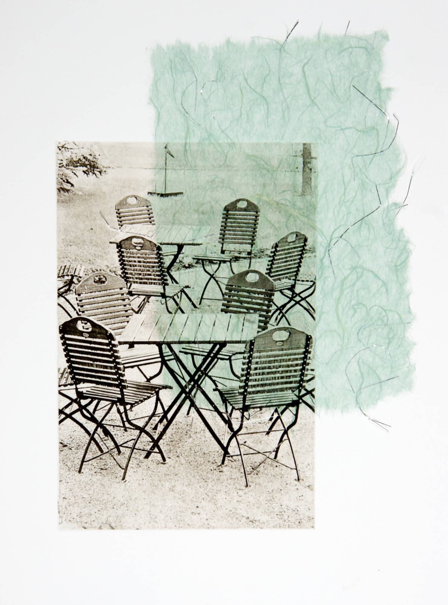 Chairs chine-collé (silver thread)