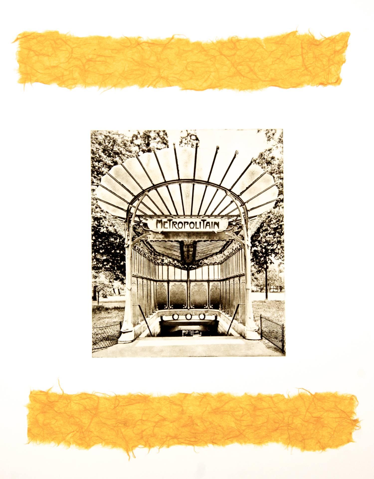 Metropolitain chine-collé (mango)