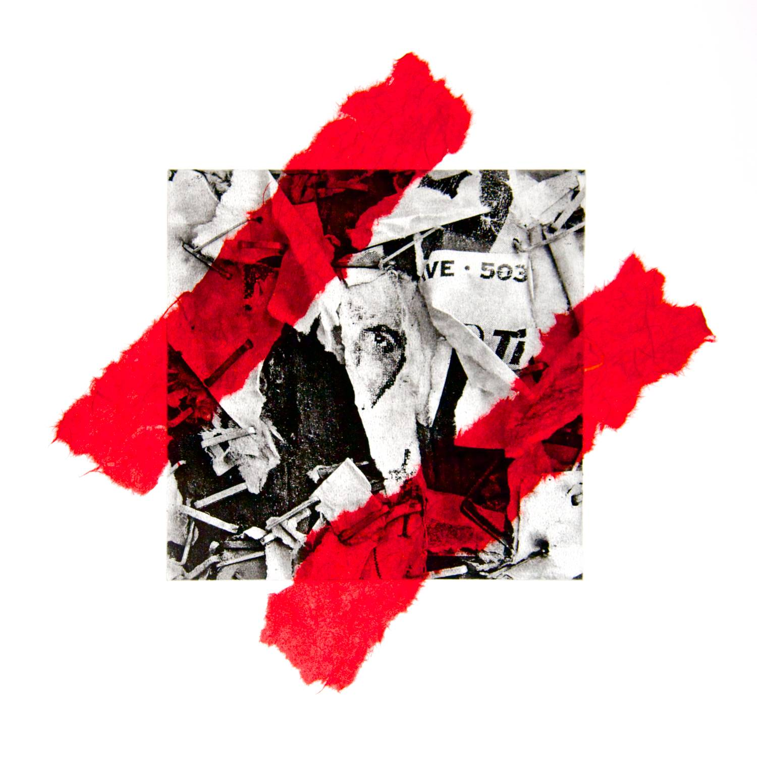 Stapled chine-collé (red)
