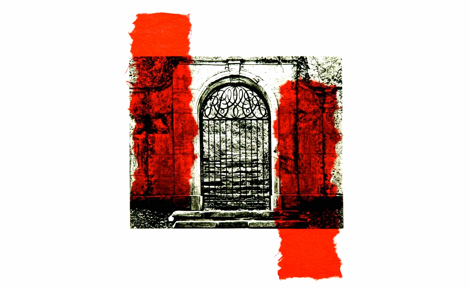 Dumbarton Gate chine-collé (red)