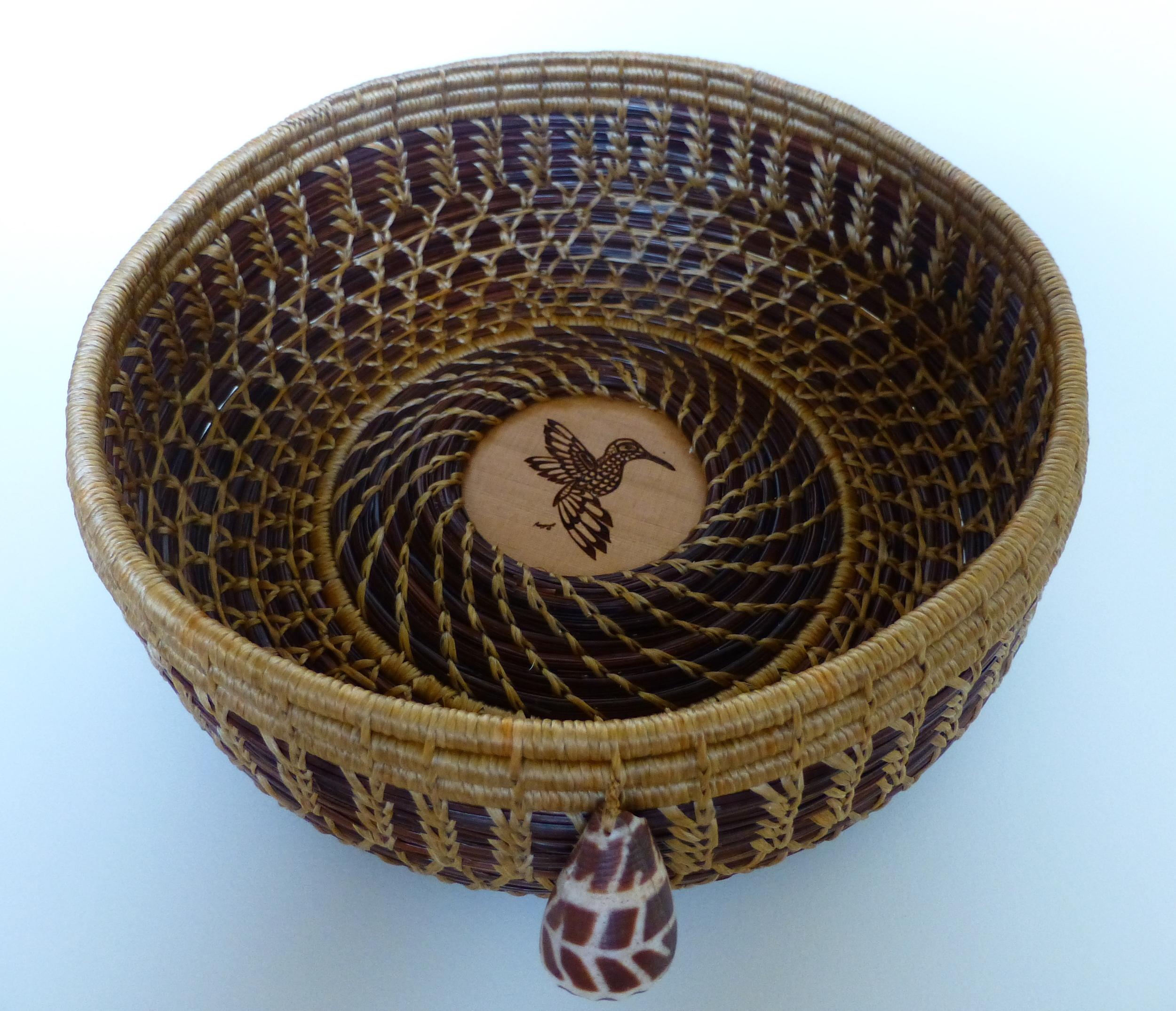 Hummingbird Basket With Hebrew Cone
