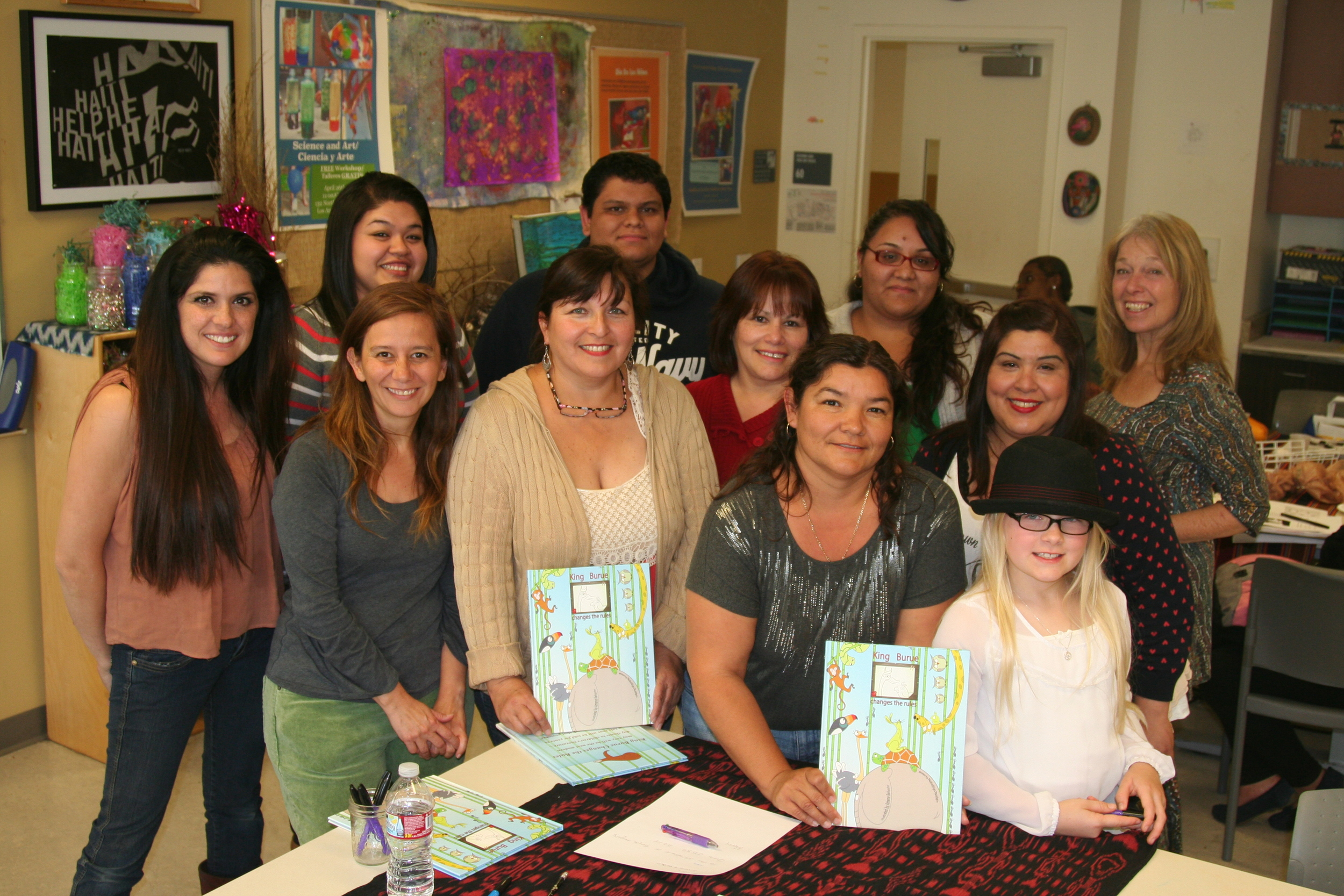 The team; Marisa, Robert, Mercedes, Daisy, Sandra, Susan and Lydia and Professor Wilbur.