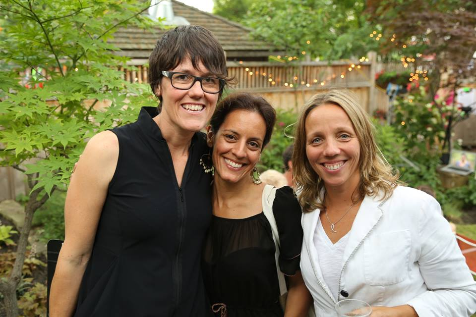 Suzanne Porter, me and Lisa Hipgrave