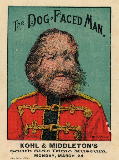 Jo-Jo The Dog-Faced Man. A sideshow poster from the 19th century.