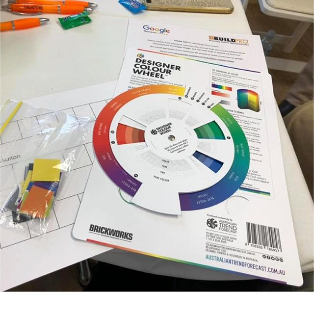 As with all of our colour theory sessions, the fantastic women in attendance at the Wagga Women in Construction workshops received a @designercolourwheel to help understand colour theory. We're sure they will be adding this little tool to their creative repertoire for future use! ⠀ .⠀ .⠀ .⠀ #waggawomeninconstruction @buildpro_wagga #atf #australiantrendforecast #colourtheory #globaltrends#trendforecasting#trendforecast#australiantrends#trends