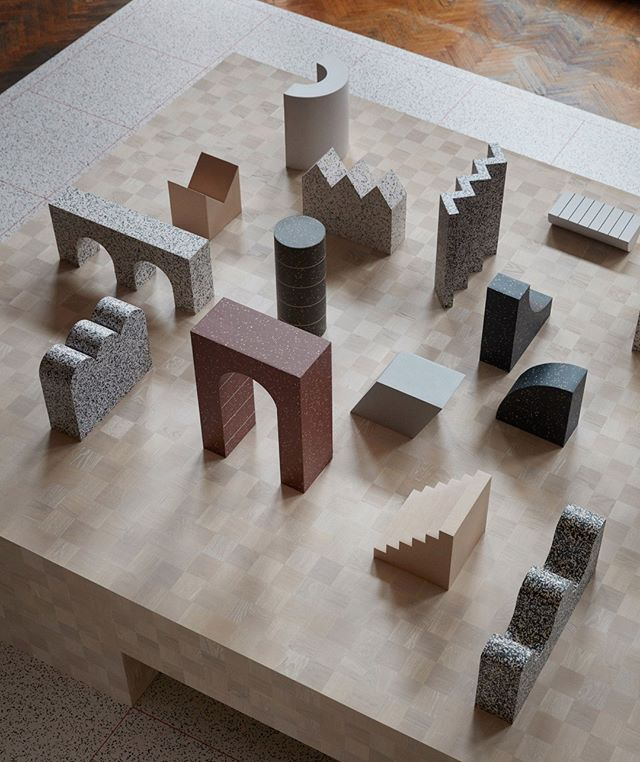 The 'Formations' installation, designed by @notedesignstudio to showcase @tarkettofficial new 'IQ Surface' range, included a series of meeting spaces decorated with the material and a large table covered in geometric 3D shapes. This allowed users to experience the new material on a smaller scale, seeing the beautiful detail up close.⠀ Our Director, Kim Chadwick has been working behind the scenes on something very exciting with Tarkett- we can't wait to share it with you!⠀ .⠀ .⠀ .⠀ #atf#australiantrendforecast#trendforecast#trendforecasting#globaltrends#trends#tarkett#designweek#milandesignweek