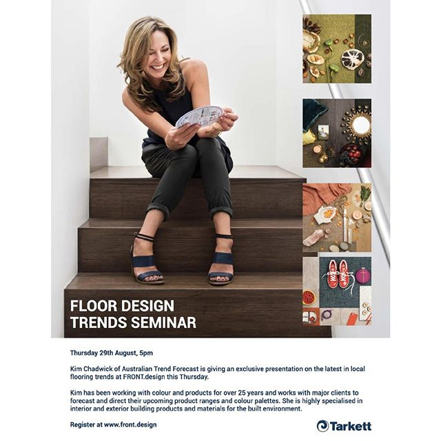 This year's FRONT.design 2019 event kicks off in Sydney tomorrow! In conjunction with @tarkettofficial, our Director, Kim Chadwick, will be presenting on commercial flooring design trends. The speech will look at how our continuously evolving lifestyles, attitudes, technology and belief systems are impacting the commercial design market. ⠀ If you are in Sydney and would like to attend, head to the Front.design website for more info!⠀ Photographer: @nicoleengland⠀ Hair and Makeup: @thegoodbadanduglystyles⠀ Mood boards styling: @itsjanehall and @stylebyjuani