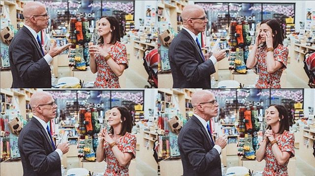 I talk a lot with my hands. Love these shots with @thecrazycolonel from the #beyondthepoint launch @politicsprose! These four frames are me in a nutshell. #debutauthor #bookofthemonthclub 📸: @cadetissue