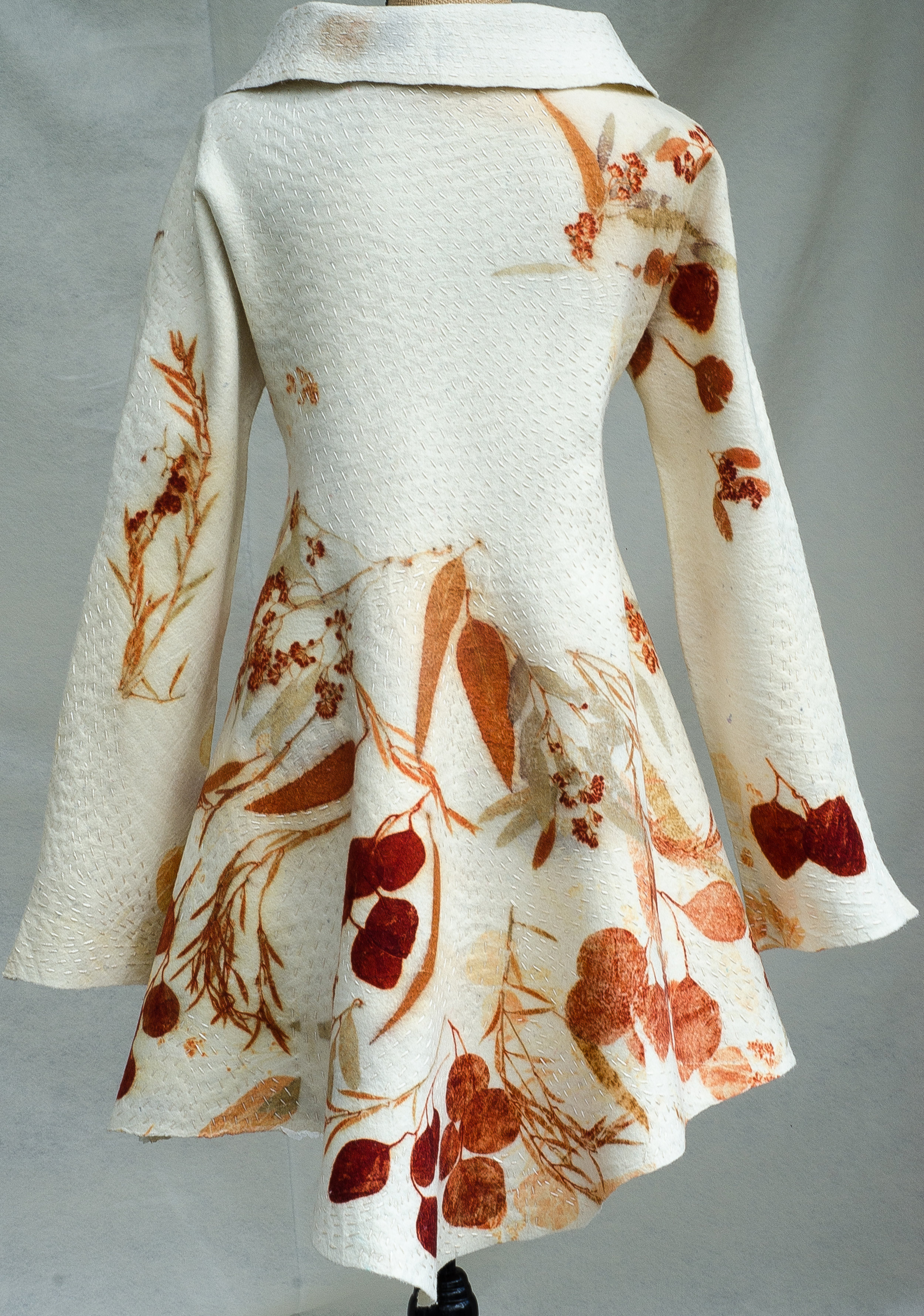 Botanically Inspired Kantha coat