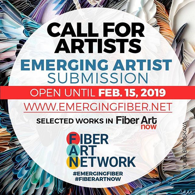 Hey, did you know that I made it into the Fiber Art Now Emerging Artist showcase in 2016?  Only 3 days left to apply for this call so don't miss out on this wonderful opportunity. #feltersofinstagram #emergingartist  #callforartists #callforsubmissions #callforentries #artcall