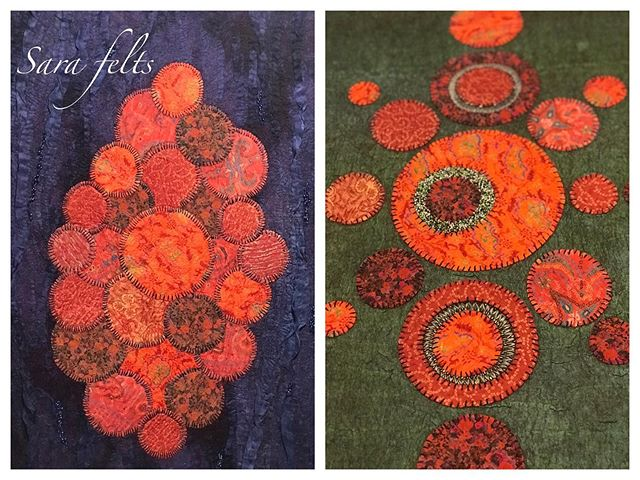 I'm so happy to be participating in the Spirit of India exhibition at Port Moody Arts Centre. I hope you can drop by to see these colorful wall panels made from felting superfine merino wool with silk sarees and hand dyed silks.  #vancouvermakers #vancouverartist #bcartist  #handdyed #handstitched #handembroidery #wetfelted #nunofelt #fiberarts #textileoftheday #fiberartist #contemporarycraft #textileart #textilearts #craftsposure #slowstitching #modernembroidery #fiberartistsofinstagram #contemporaryembroidery #textileoftheday #markmaking #arttextile #pieceunique #madeinvancouver #feltersofinstagram #pomoarts