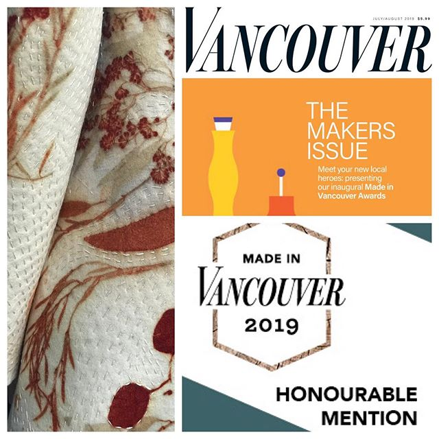 In the midst of packing, moving and unpacking, I was so excited to get the Vancouver Magazine Makers Issue in the mail today. I made it into the Honourable Mention category alongside some incredible artists and designers. Thank you Vancouver Magazine ❤️. http://vanmag.com/best-of-the-city/made-in-vancouver-awards/the-2019-made-in-vancouver-awards-winners/  #vancouvermakers #vanmagram #madeinvancouverawards #yvrstyle #yvrartist #sarafelts #slowclothes #ecoprinting #ecoprint #botanicallyinspired #oneofakind