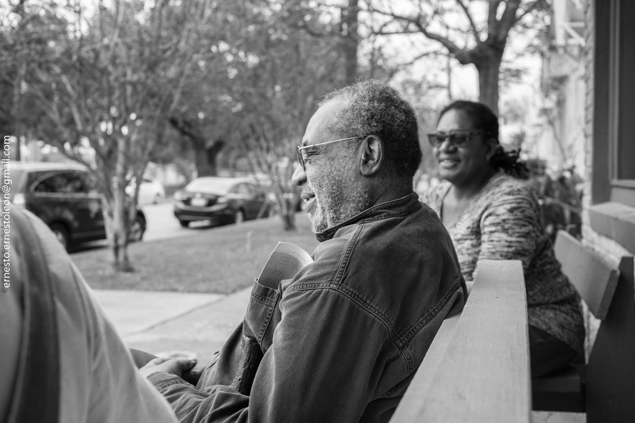 George Smith and Kaneem Smith at Project Row Houses. Photo by Ernesto Leon