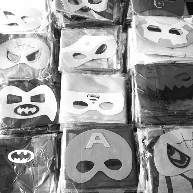 Our first order of superhero capes and masks from @uniquelyfmi - can't wait to send them out to Hero for a Day parties at pediatric oncology units throughout the US!