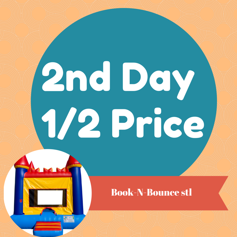 Rent an inflatable for the first day and add a second day for half price