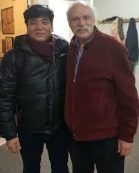 Yongin Namkung with Robert Langevin, principal flute of the New York Philharmonic