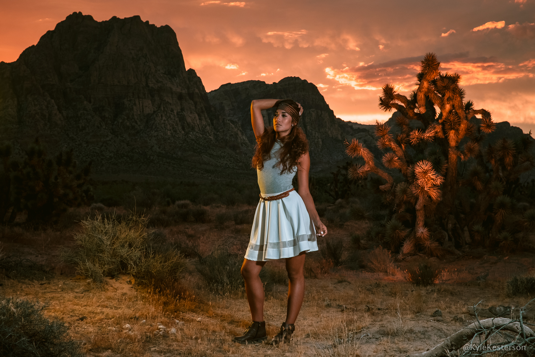 Sample image at Bonnie Springs, Nevada with Lenisa Careaga