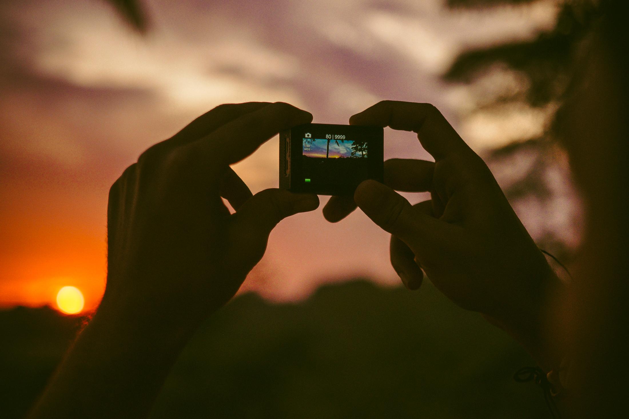 Nuno captures the sunset