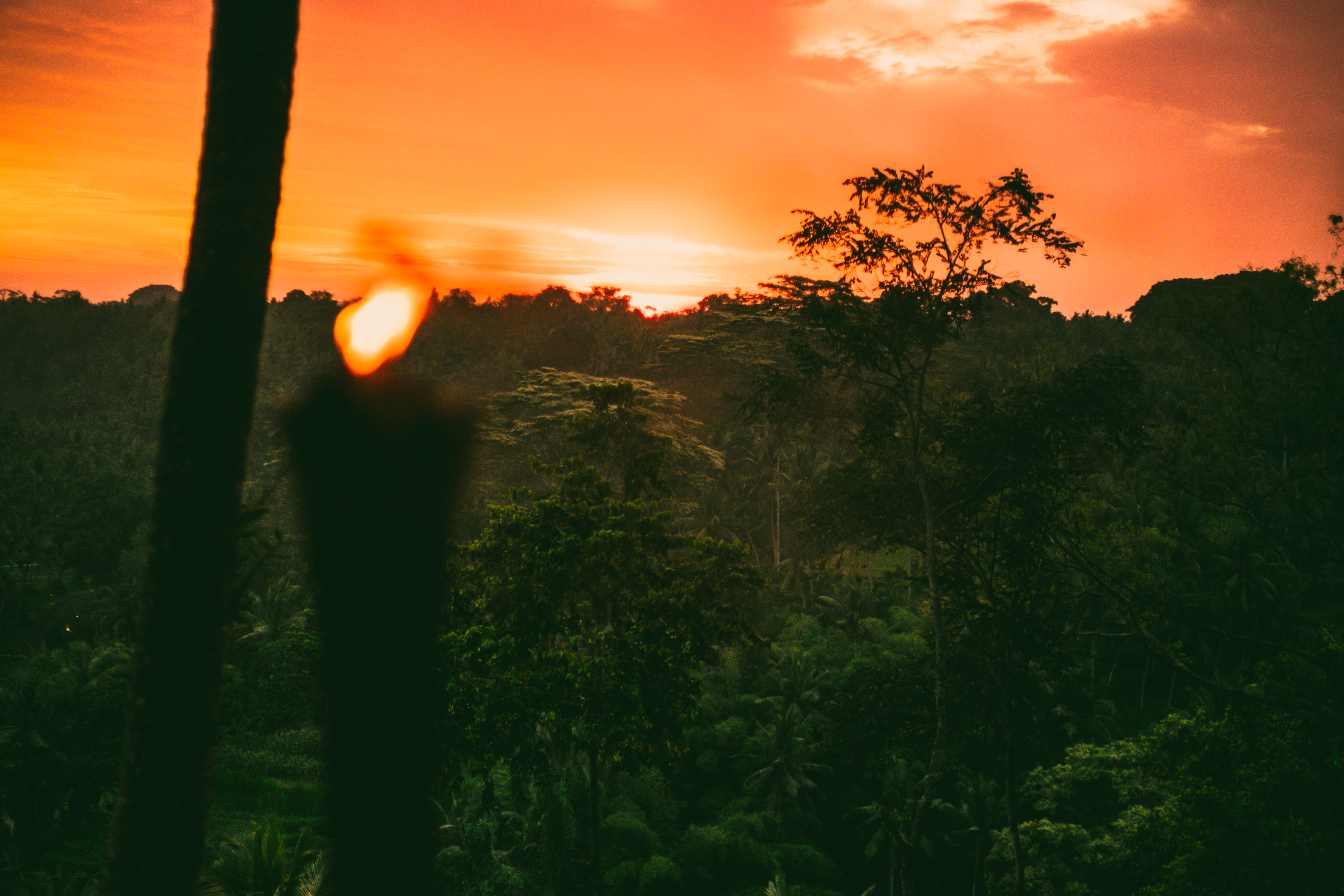 My first Balinese sunset from the Sayan House
