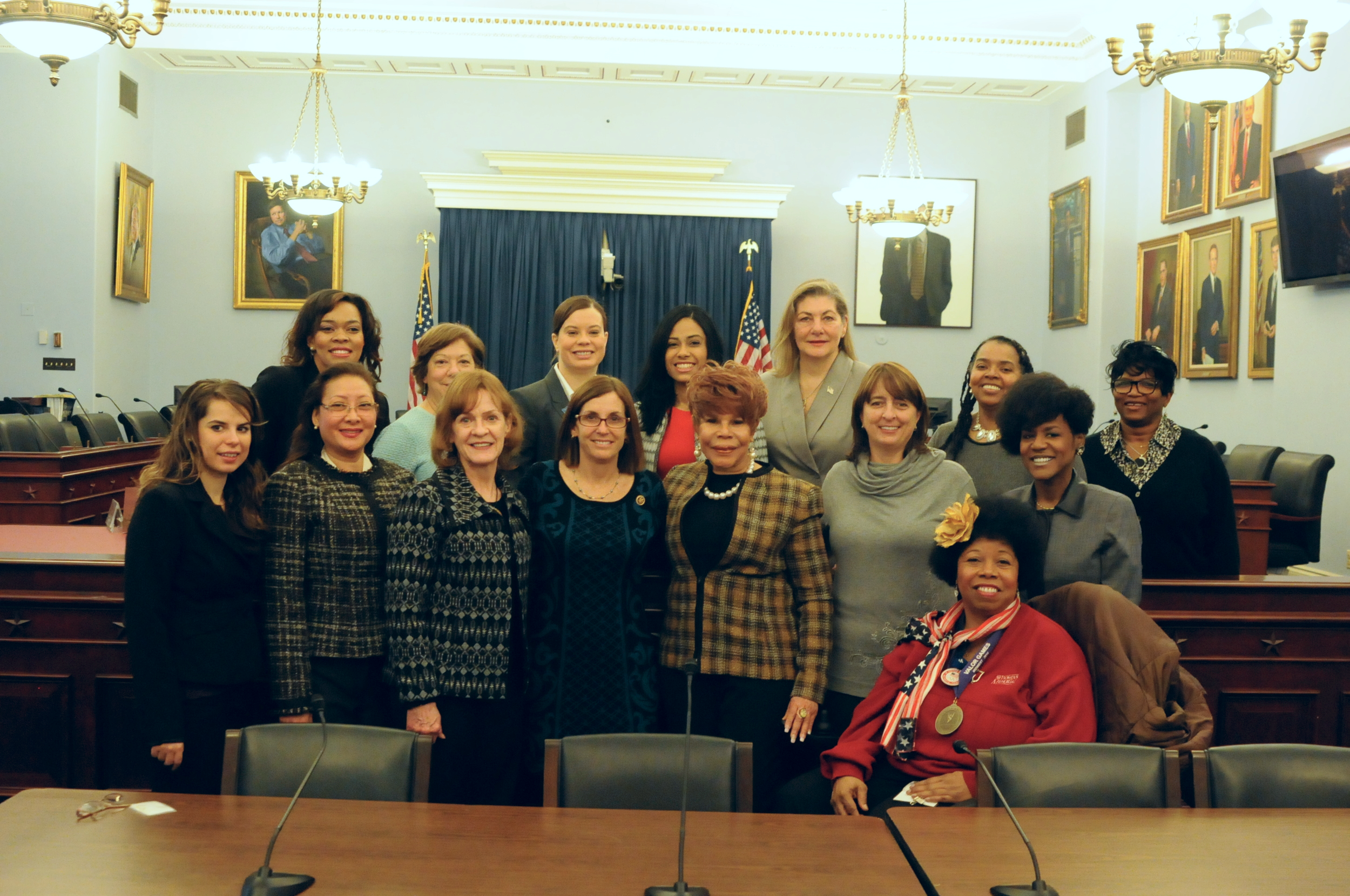 """U.S. Congresswoman and Air Force veteran Martha McSally (R-AZ) meets with 2015 Women's Workshop Participants on Capitol Hill to share her path to a """"second service"""" in Congress"""
