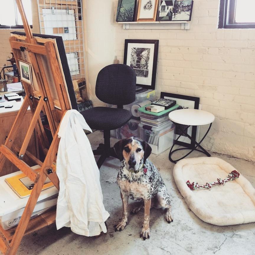 My studio helper, Rufus.