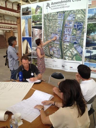 Arden Macaulay planning workshop in progress .