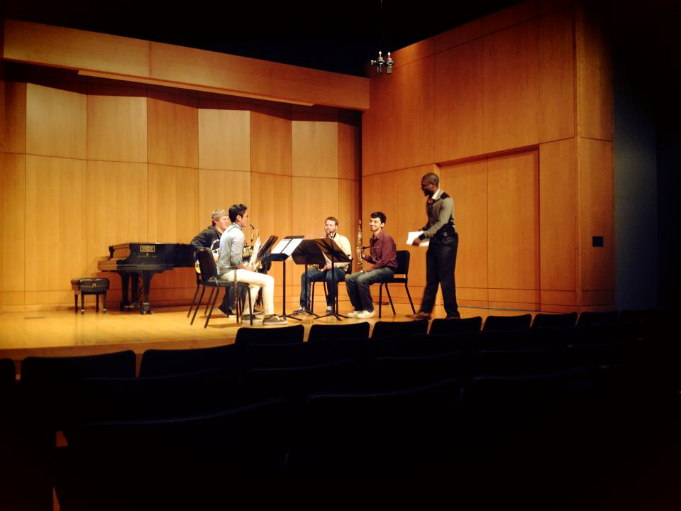 Velirium Quartet gets coached by Dr. Robert Young
