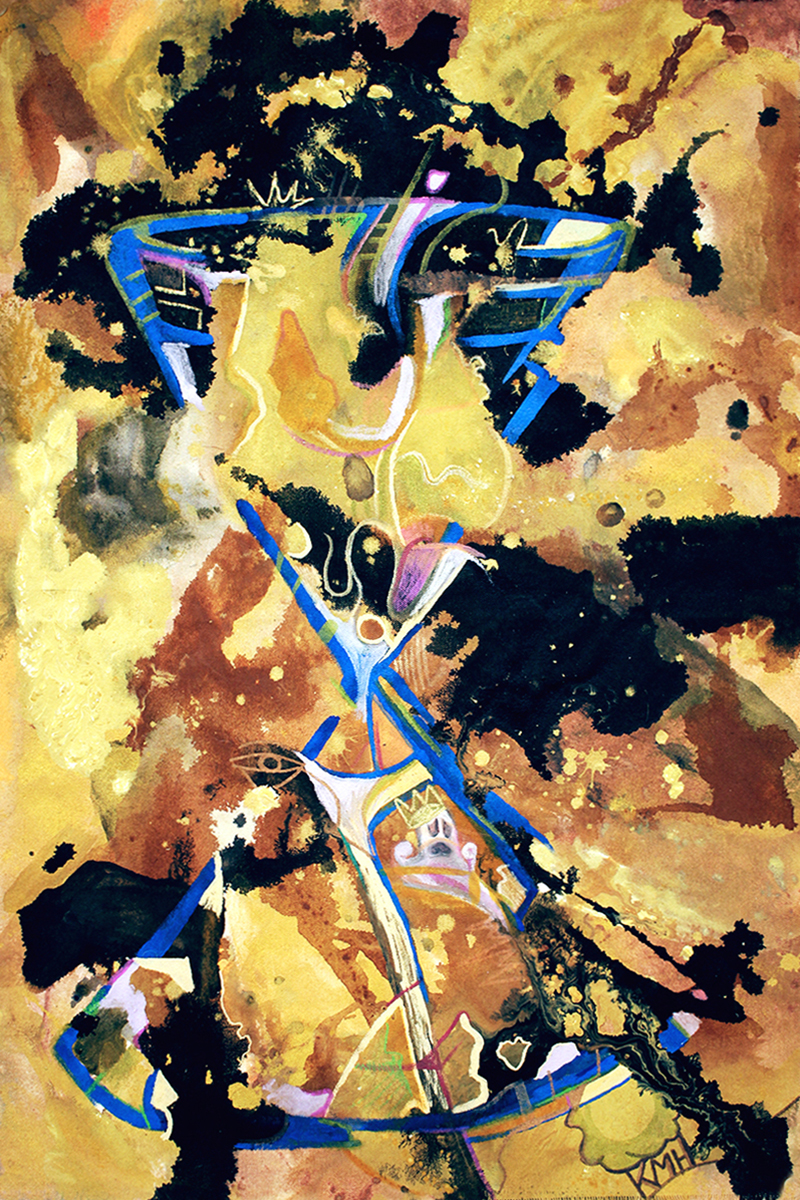 """SANDS OF TIME""   26 x 17 inches (custom)  Acrylic & Mixed Media on Raw, Un-stretched Canvas"