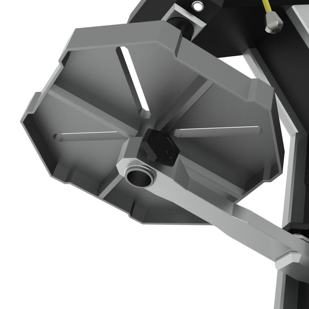 Locking mechanism under drilling platform.