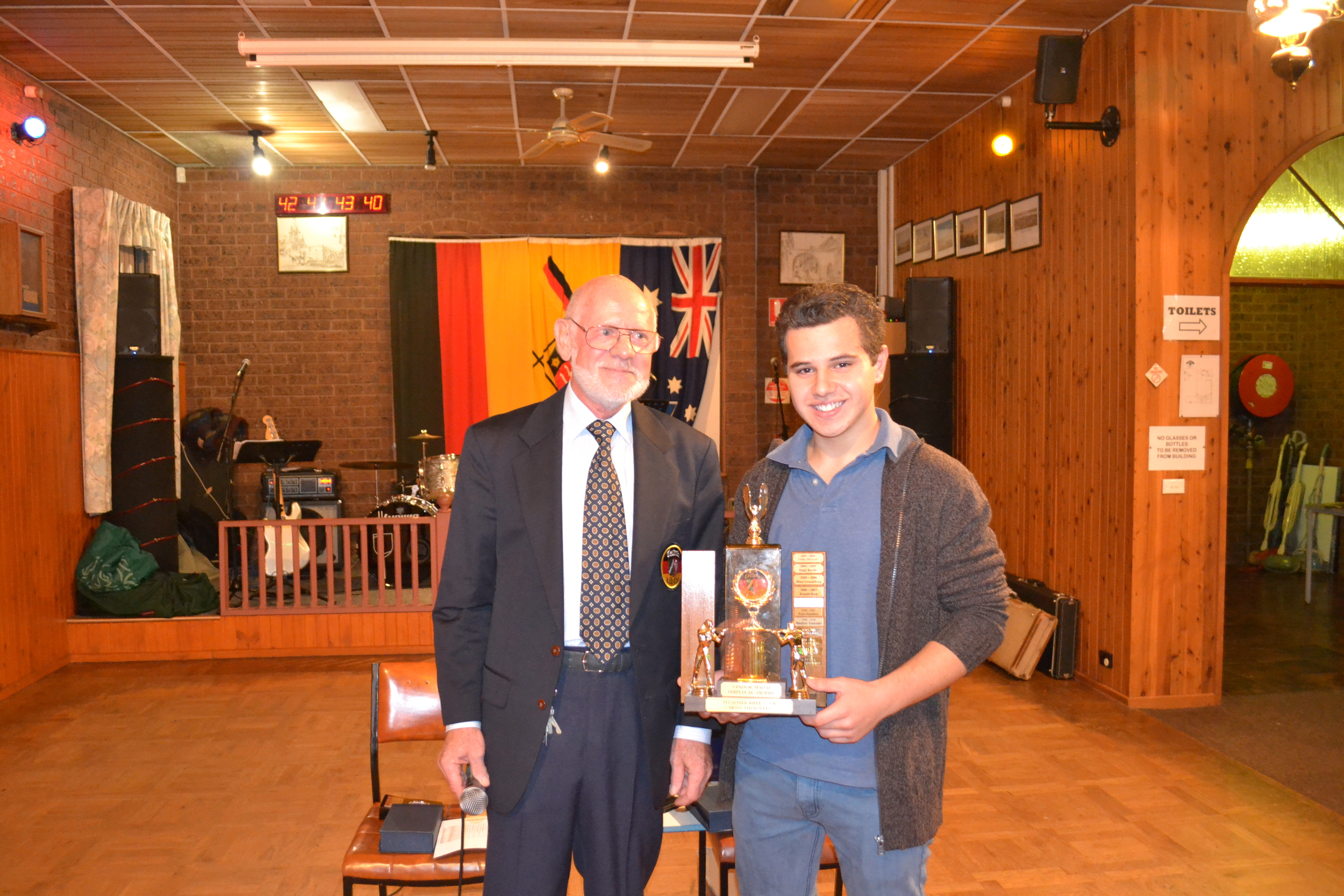 Jurgen Eberhardt and our up and coming Junior Champion Alex