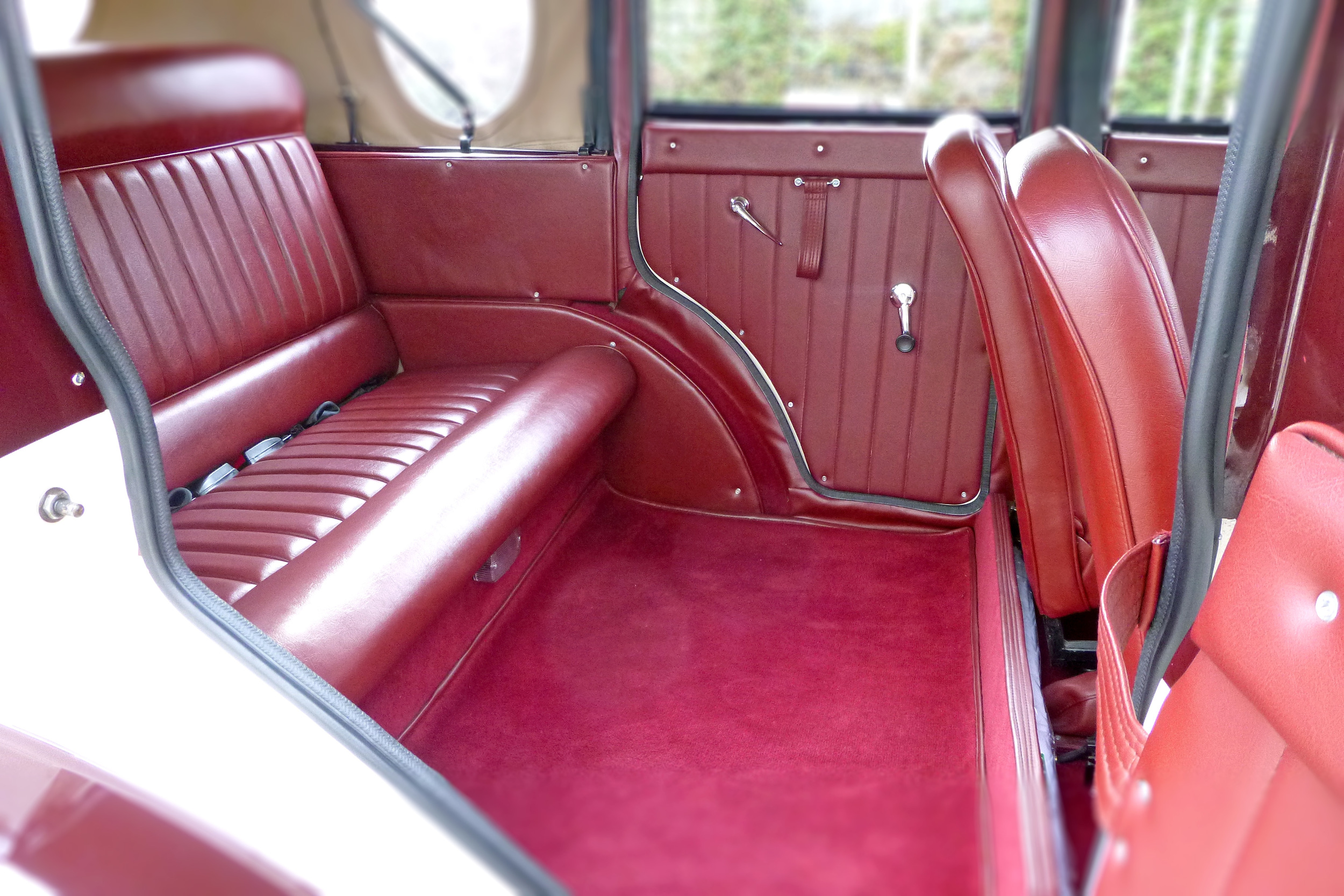 The Spacious Rear Seating in The Badsworth Landaulette