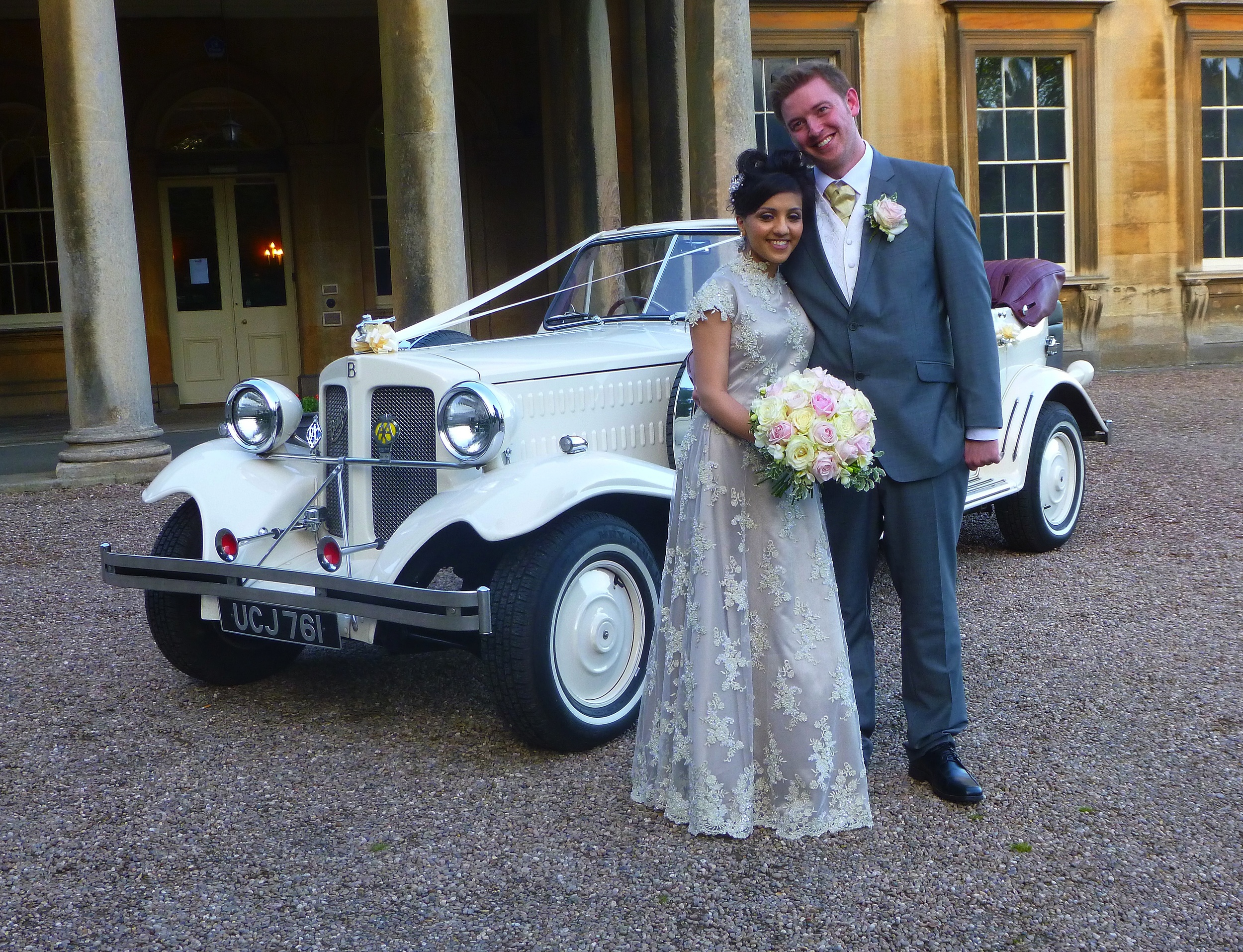 We are not usually involved with weddings in the evenings. An exception was made to transport Fahimah & Michael to Leicester following their wedding at Prestwold Hall, Loughborough. A lovely occasion in perfect weather. I will be at Prestwold again next week.