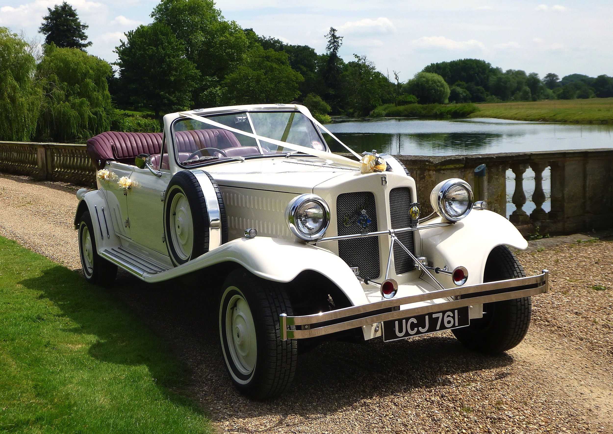Just time for one last photo of the Beauford at Stoneleigh Abbey on our way home from Khloe and Ryans wedding