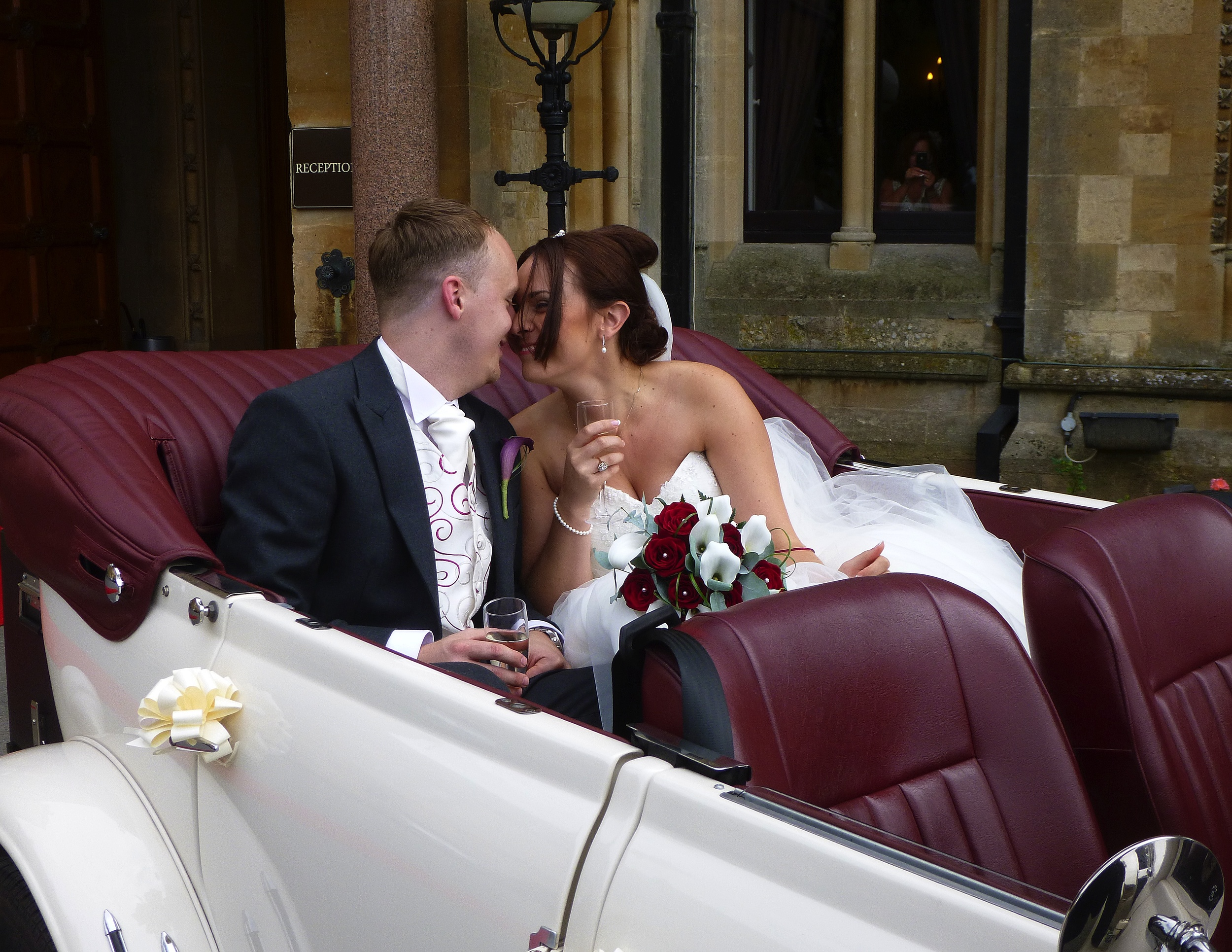 Arriving back at Walton Hall following the short drive for photos. Tiffany and Lewis make the most of some private time together prior to the festivities with guests in the Hall.