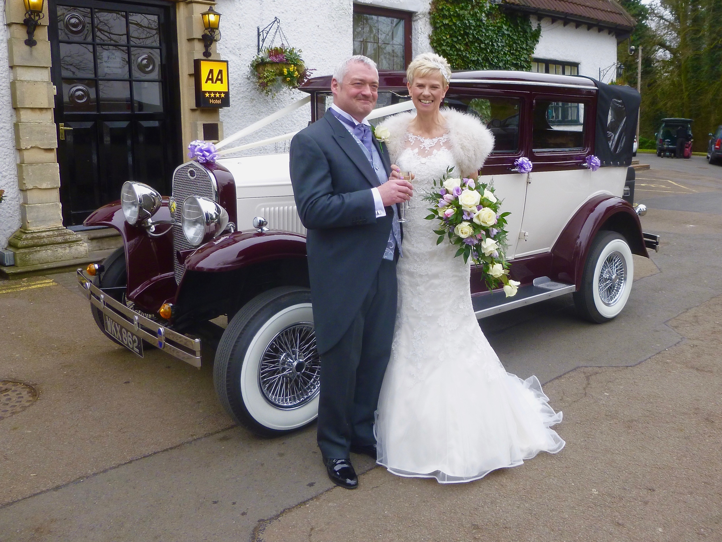 Colin and Kerrie enjoy a toast following their Wedding Ceremony at  Ullesthorpe Court Hotel.  A lovely relaxing occasion in a beautiful setting. Congratulations to the happy couple.