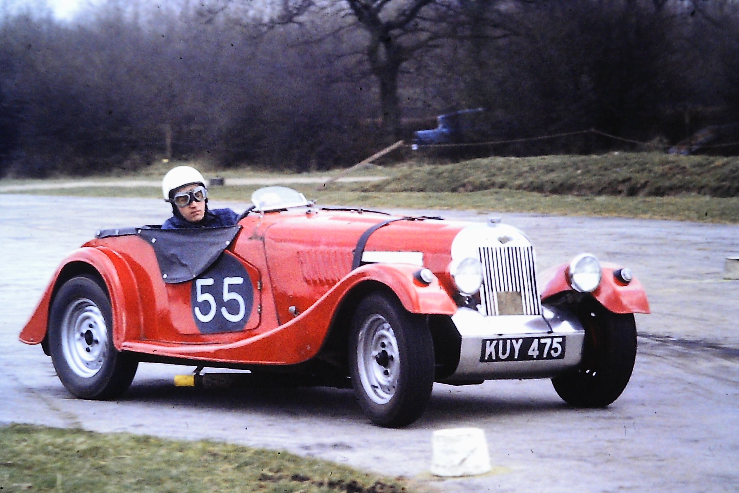 My 1952 Morgan +4 on its first outing at Mallory Park. Early race modified.