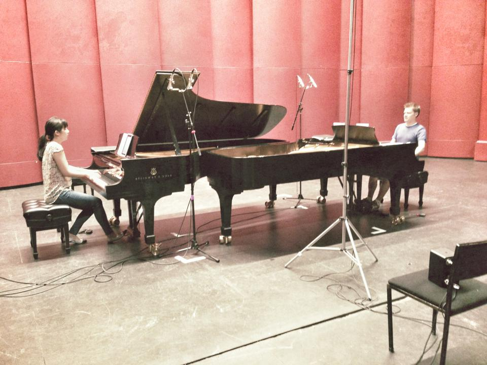 Mozart album sessions at SUNY-Purchase with acclaimed engineer/producer Steven Epstein
