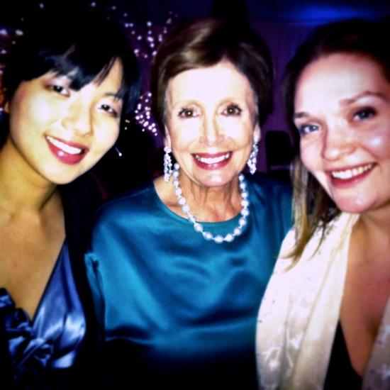 Elizabeth Joy Roe, Nancy Pelosi, and Saeunn Thorsteinsdottir