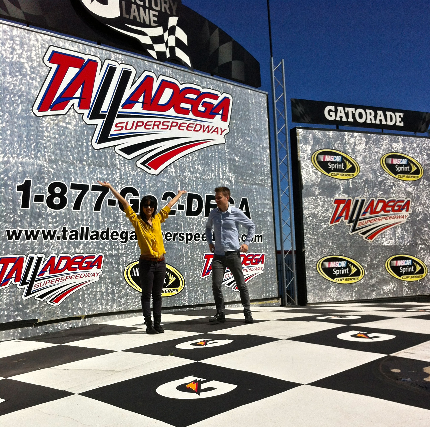 A+R at the Talladega Superspeedway's Victory Lane