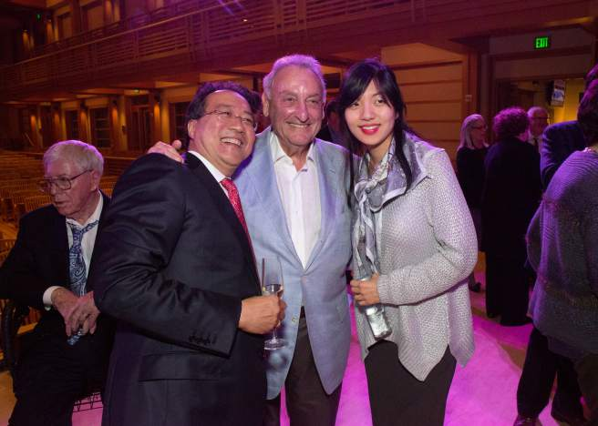 Yo-Yo Ma, Sandy Weill, and Elizabeth Joy Roe