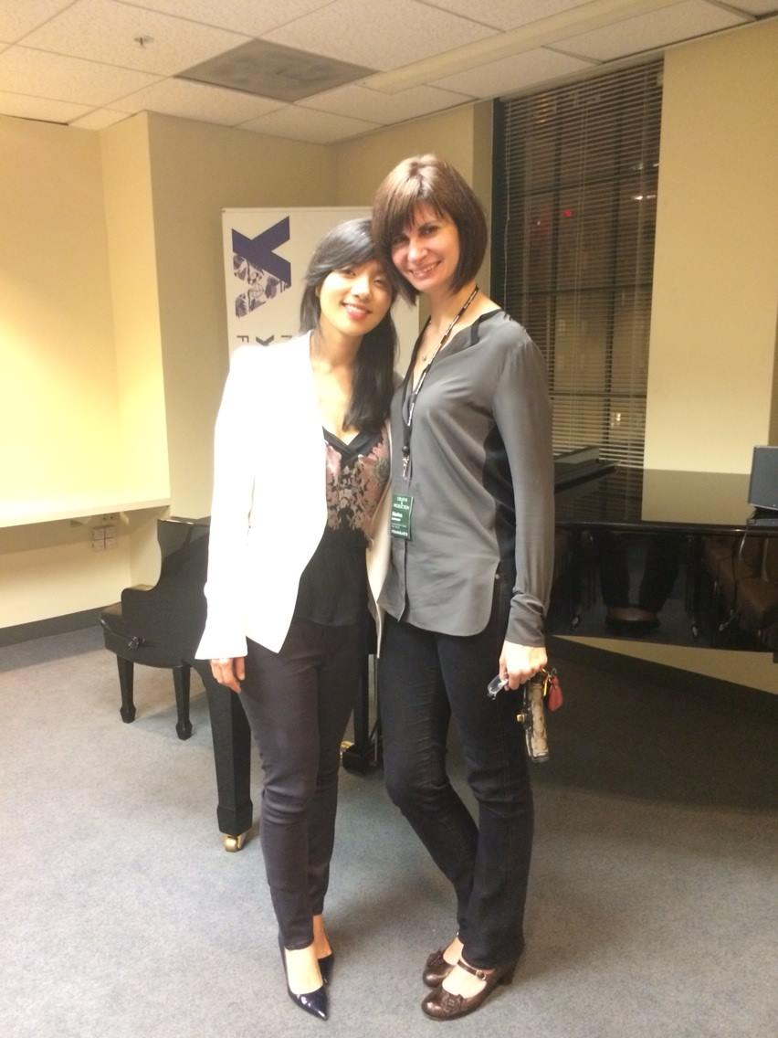 With pianist Marina Lomazov at YoungArts LA